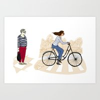 Street Stripes Art Print