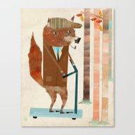 The Eccentric Mr Fox Canvas Print