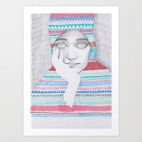 A Traveler 02 Art Print