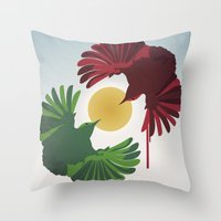 Wrens Throw Pillow