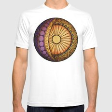Sun and Moon Mens Fitted Tee White SMALL