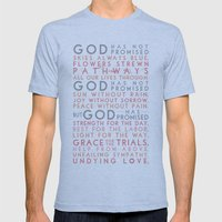 God has promised Mens Fitted Tee Athletic Blue SMALL