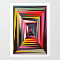 Retro Tunnel Art Print