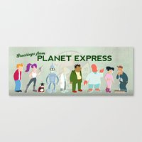 Planet Express Canvas Print