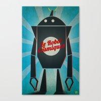 Le Robot Cosmiques Canvas Print