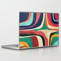 map Laptop & iPad Skins featuring Impossible contour map by Picomodi