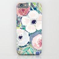 White Anemone Floral iPhone 6 Slim Case