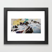 Next Plateau (Rock and Snow) Framed Art Print