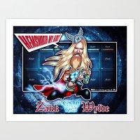 Thor Zakk Wylde Concept! Art Print