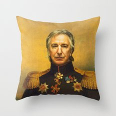 Alan Rickman - replaceface Throw Pillow