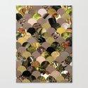 Autumn Scalloped Pattern Canvas Print