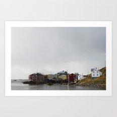 Nyksund, Lofoten Art Print
