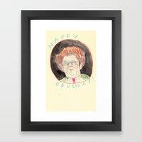Happy Bruleday Framed Art Print