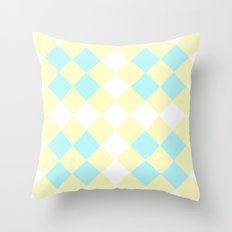 Checkers Yellow/Blue Throw Pillow