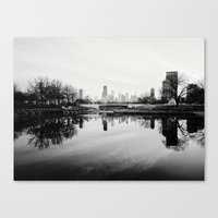 Chicago Skyline from South Pond Canvas Print