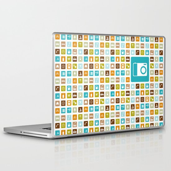 Travel Icons Laptop & iPad Skin