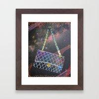 Cosmic Chanel Bag Framed Art Print