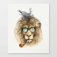 Lion Sailor & Seagull Canvas Print