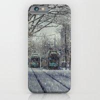 iPhone & iPod Case featuring Never ending winter. Brookline, MA by LudaNayvelt