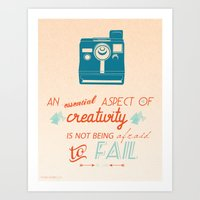 Creativity Inspirational… Art Print