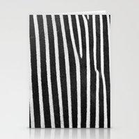 Zebra Stripes & Back Stationery Cards
