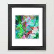 Framed Art Print featuring Green Crystal Depth by Matthias Hennig