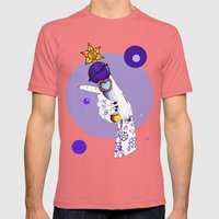 Saturn Mens Fitted Tee Pomegranate SMALL