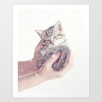 In Safe Hands Art Print