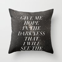 Ghosts That We Knew Throw Pillow
