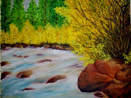 Rushing River Art Print