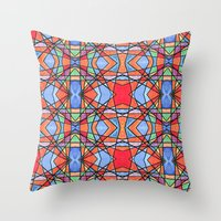 mexican stained glass Throw Pillow