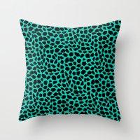 Berlin Boombox Animal Pa… Throw Pillow