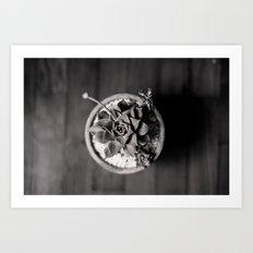 Black and White Succulent Art Print