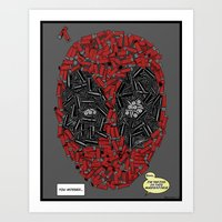 You Missed - Dead-pool Comic Style Portrait Art Print