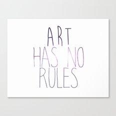 ART Rules2 Canvas Print