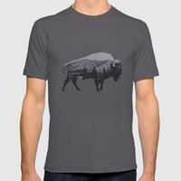 The American Bison Mens Fitted Tee Asphalt SMALL
