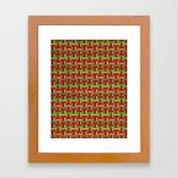 Woven Pixels VI Framed Art Print