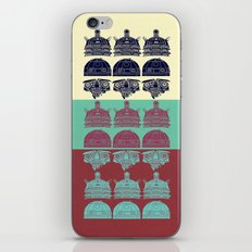 Robots don't like stairs (R2D2, Johnny 5 & The Dalek) iPhone & iPod Skin