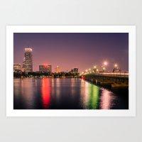 Harvard Bridge Art Print