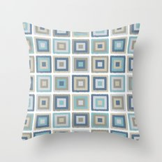 My simple squares Throw Pillow