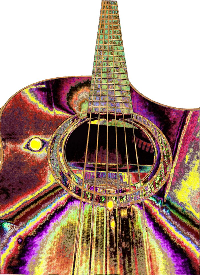 abstract colorful acoustic guitar art print by tina a stoffel arts society6. Black Bedroom Furniture Sets. Home Design Ideas