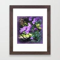 Textured Geranium  Framed Art Print