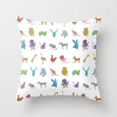 Glitter Animals A Throw Pillow