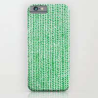 iPhone & iPod Case featuring Stockinette Green by Elisa Sandoval
