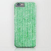 Stockinette Green iPhone 6 Slim Case