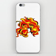 your hair is on fire iPhone & iPod Skin