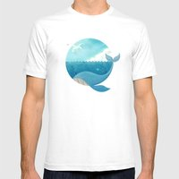 Whale & Seagull (US and THEM) Mens Fitted Tee White SMALL