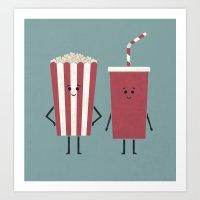 Movie Time Art Print