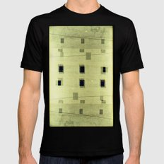 Landscapes c4 (35mm Double Exposure) SMALL Black Mens Fitted Tee