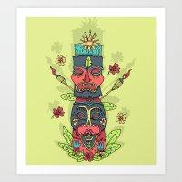 Tiki Totem Art Print